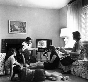 Good ld days watching tv 1958