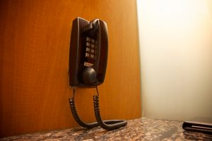 Good old days Wall phone with cord