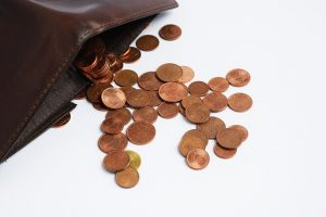 Change purse with pennies