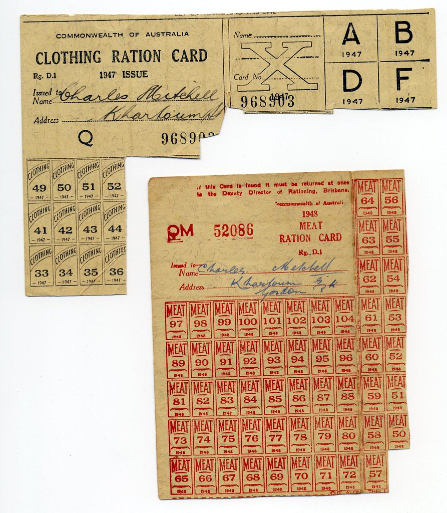 WWII ration cards