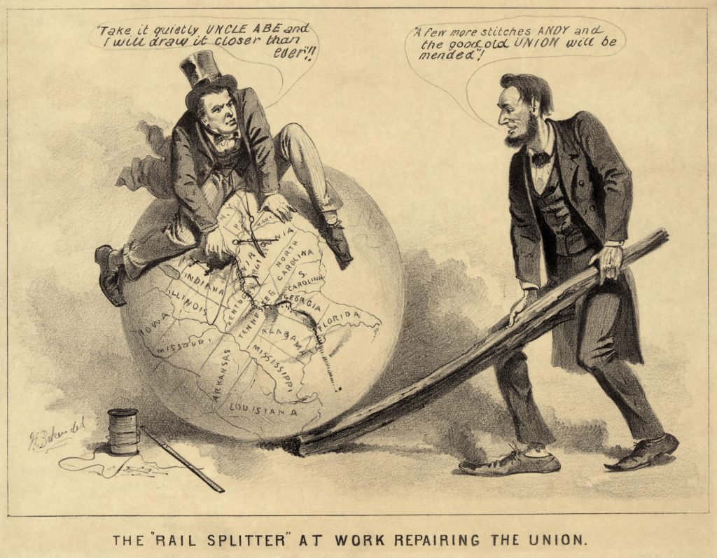 Lincoln reconstruction cartoon