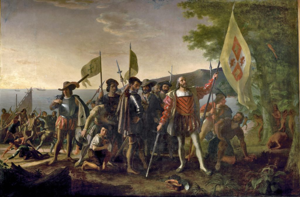 Columbus landing at Santo Domingo