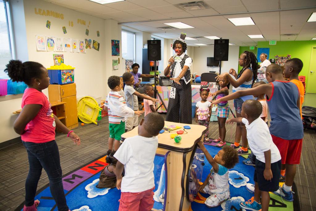 Children at a child care center
